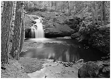 Cascade over rock, Amnicon Falls State Park. Wisconsin, USA ( black and white)