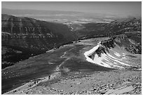 Table Mountain Trail. Jedediah Smith Wilderness,  Caribou-Targhee National Forest, Idaho, USA ( black and white)