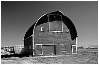 Red Barn. Idaho, USA (black and white)