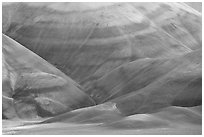 Colorful claystone hills. John Day Fossils Bed National Monument, Oregon, USA ( black and white)