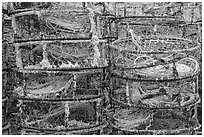 Crab traps. Newport, Oregon, USA (black and white)