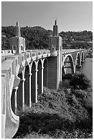 Isaac Lee Patterson Bridge over the Rogue River. Oregon, USA (black and white)