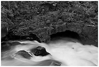 Rogue River and natural bridge. Oregon, USA ( black and white)