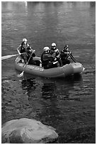 Rafters, McKenzie river. Oregon, USA ( black and white)