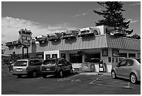 Hot Rod Grill, Florence. Oregon, USA ( black and white)