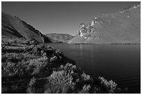Lake Owyhee at Leslie Gulch. Oregon, USA (black and white)