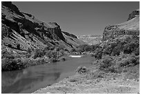 Owyhee River canyon. Oregon, USA ( black and white)