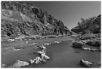 Riverside hot springs. Oregon, USA ( black and white)