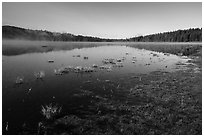 Hyatt Lake. Cascade Siskiyou National Monument, Oregon, USA ( black and white)