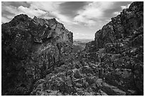 Top of Pilot Rock. Cascade Siskiyou National Monument, Oregon, USA ( black and white)
