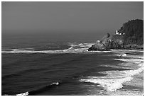 Lighthouse at Haceta Head. Oregon, USA ( black and white)