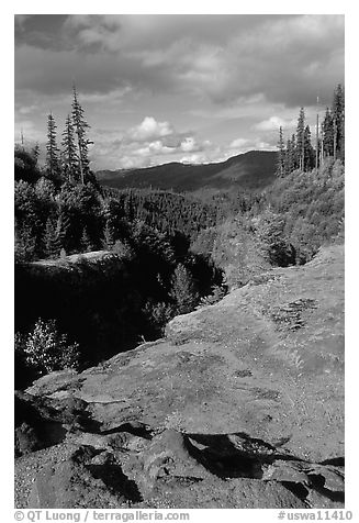 Lava Canyon. Mount St Helens National Volcanic Monument, Washington (black and white)