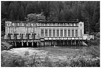 Gorge Powerhouse, Newhalem. Washington (black and white)