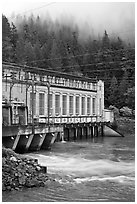 Hydroelectric power plant, Newhalem. Washington (black and white)