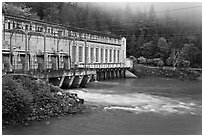 Hydroelectric Powerhouse, Newhalem. Washington (black and white)