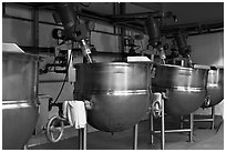 Food boilers, Liberty Orchards factory, Cashmere. Washington ( black and white)