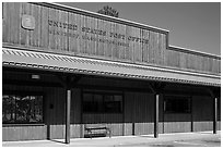 Post Office, Winthrop. Washington (black and white)