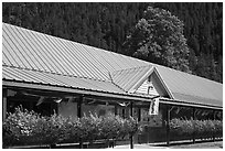 General Store, Newhalem. Washington (black and white)