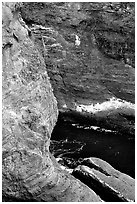 Sea cliffs, Cape Flattery, Olympic Peninsula. Olympic Peninsula, Washington ( black and white)