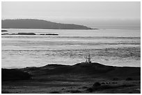 Cattle Point Lighthouse at sunrise, San Juan Island. Washington ( black and white)