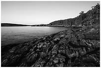 Iceberg Point, Lopez Island. Washington ( black and white)