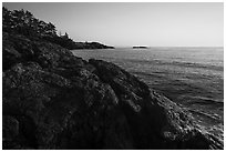Iceberg Point at sunset, Lopez Island. Washington ( black and white)