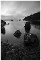 Watmough Bay at dawn, Lopez Island. Washington ( black and white)