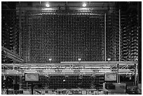 Core of the first large scale nuclear reactor, Hanford Unit, Manhattan Project National Historical Park. Washington ( black and white)