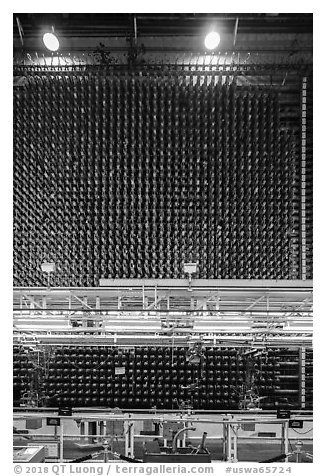 Core of plutonium nuclear reactor B, Hanford Unit, Manhattan Project National Historical Park. Washington (black and white)