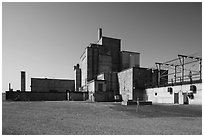 Nuclear reactor B, Hanford Unit, Manhattan Project National Historical Park. Washington ( black and white)