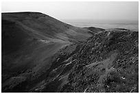 Saddle Mountain, dawn, Hanford Reach National Monument. Washington ( black and white)