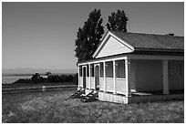 Officers Quarters, American Camp, San Juan Island National Historical Park, San Juan Island. Washington ( black and white)