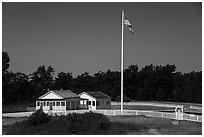 American Camp, San Juan Island National Historical Park. Washington ( black and white)
