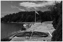 British Camp, San Juan Island National Historical Park, San Juan Island. Washington ( black and white)