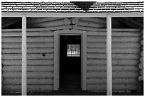 Blockhouse, British Camp, San Juan Island National Historical Park, San Juan Island. Washington ( black and white)