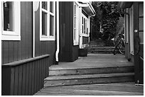 Alley, Friday Harbor, San Juan Island. Washington ( black and white)