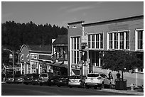 Street, Friday Harbor, San Juan Island. Washington ( black and white)