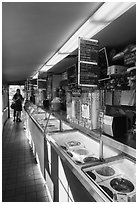 Ice cream shop, Friday Harbor, San Juan Island. Washington ( black and white)