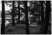 Lakeside campground, Moran State Park. Washington ( black and white)