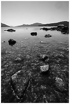East Sound from Indian Island shore, San Juan Islands National Monument, Orcas Island. Washington ( black and white)