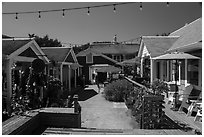 Shops, Eastsound, Orcas Island. Washington ( black and white)