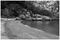 Watmough Beach, San Juan Islands National Monument, Lopez Island. Washington ( black and white)