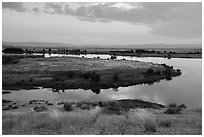 Columbia River arm, Hanford Reach National Monument. Washington ( black and white)