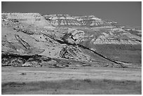 Bluffs, Ringold Unit, Hanford Reach National Monument. Washington ( black and white)