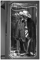 Western-style fashion on display. Jackson, Wyoming, USA ( black and white)