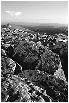 Rocks in late afternoon, Beartooth Range, Shoshone National Forest. Wyoming, USA ( black and white)