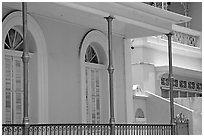 Detail of porch, Ponce. Puerto Rico ( black and white)