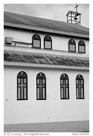 Side of a church, La Parguera. Puerto Rico (black and white)