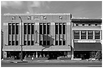 Historic store buildings. Selma, Alabama, USA ( black and white)