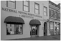 National Voting Rights Museum and Institute. Selma, Alabama, USA ( black and white)